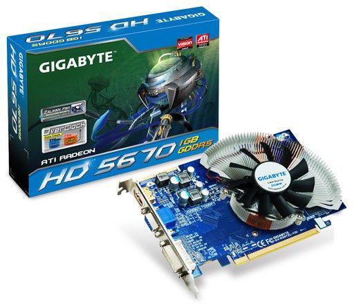 Видеокарта GIGABYTE Radeon HD 5670,  1Гб, GDDR5, Ret [gv-r567zl-1gi]