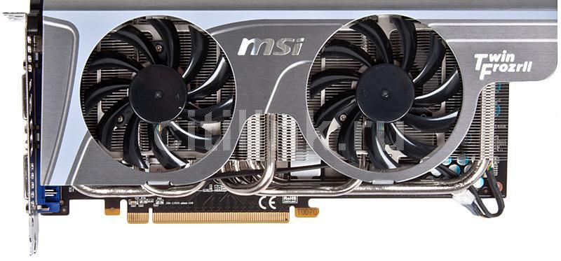 Видеокарта MSI N470GTX Twin Frozr II,  1.3Гб, GDDR5, Ret