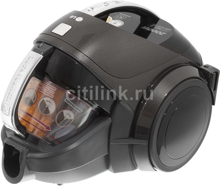 Пылесос LG VK80101HFR, 2000Вт, черный