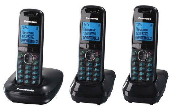 Радиотелефон PANASONIC KX-TG5513RUB,  черный