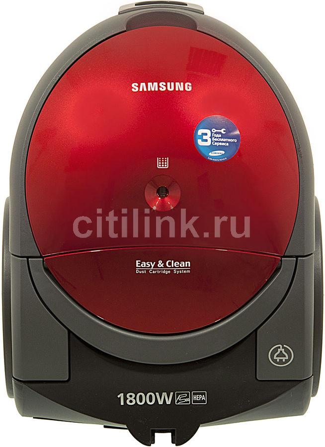 Пылесос SAMSUNG SC5155, 1800Вт, красный