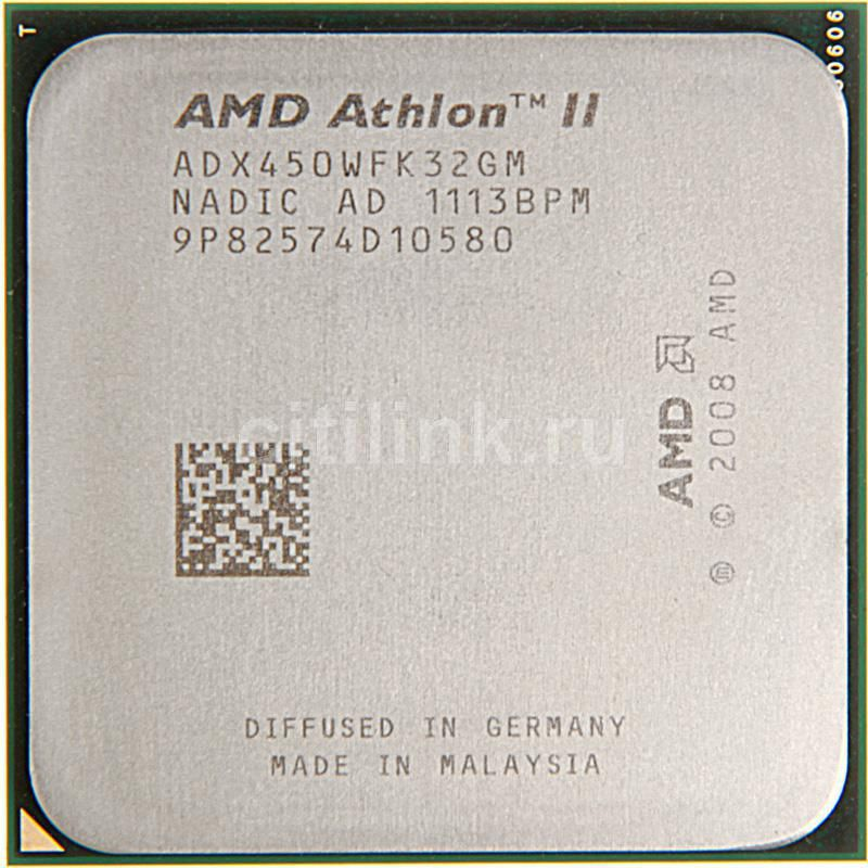 Процессор AMD Athlon II X3 450, SocketAM3 OEM [adx450wfk32gm]