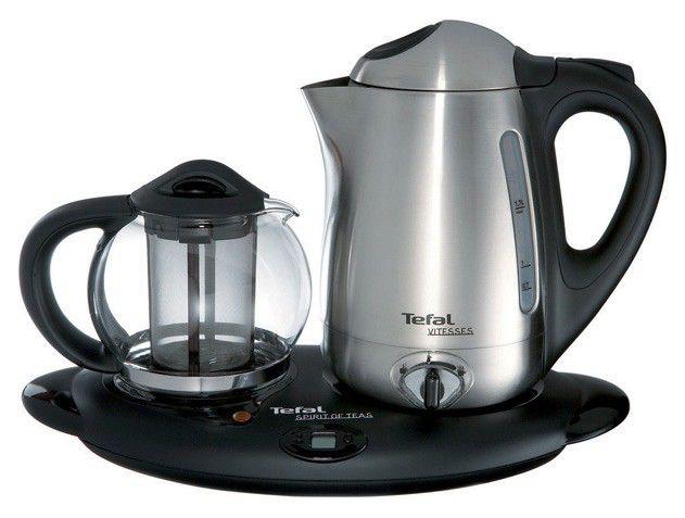 Чайный набор TEFAL BK9635, 2400Вт, серебристый