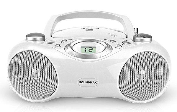 Аудиомагнитола SOUNDMAX SM-2401,  белый