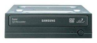 Оптический привод DVD-RW SAMSUNG SH-S222A/RSMS, внутренний, IDE, черный,  Ret
