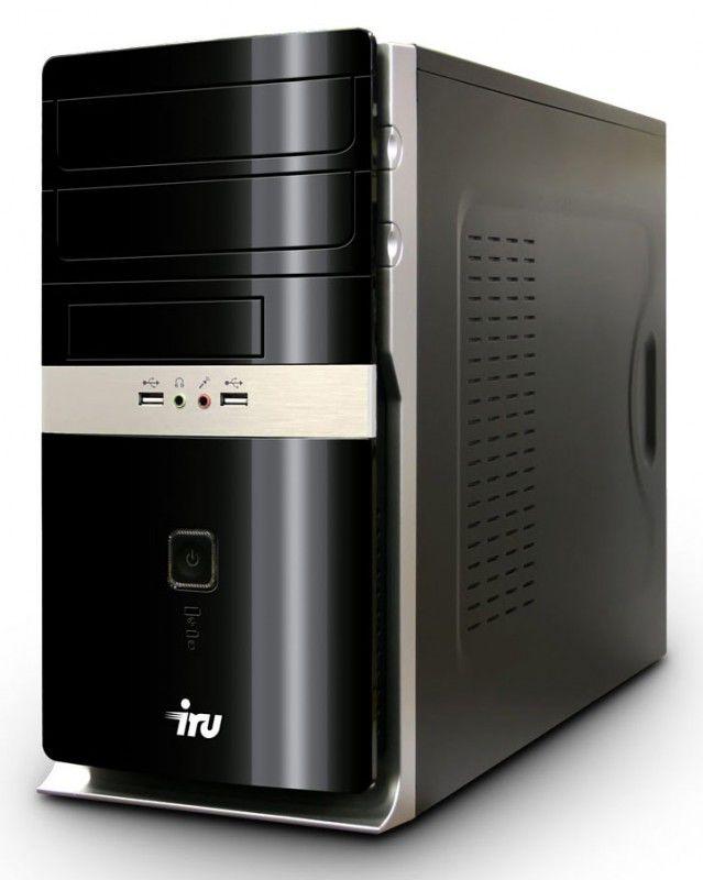 IRU Home 320,  AMD  Athlon II X2  240,  DDR2 2Гб, 250Гб,  ATI Radeon HD 5450 - 512 Мб,  DVD-RW,  CR,  Windows 7 Home Basic,  черный