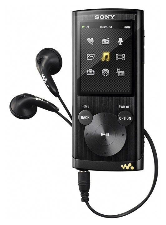 MP3 плеер SONY NWZE454B flash 8Гб черный