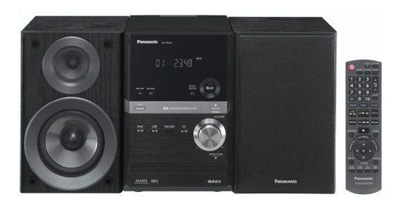 Музыкальный центр PANASONIC SC-PM42EP-K,  черный