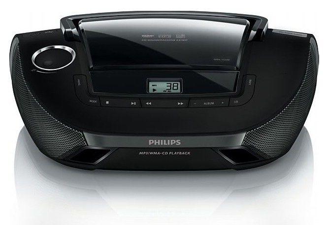 Аудиомагнитола PHILIPS AZ 1837/12,  черный