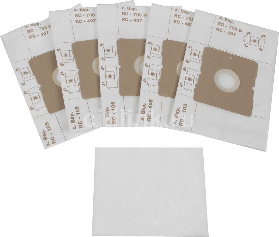 Пылесборники TOP HOUSE TH 101 D,  двухслойные,  6 шт., для пылесосов,  один фильтр из микрофибры