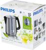 Чайник электрический PHILIPS HD4670, 2400Вт, серебристый и черный вид 11
