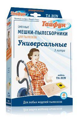 Пылесборники ТАЙФУН ТА 3 UN,  универсальные,  4 шт., для пылесосов