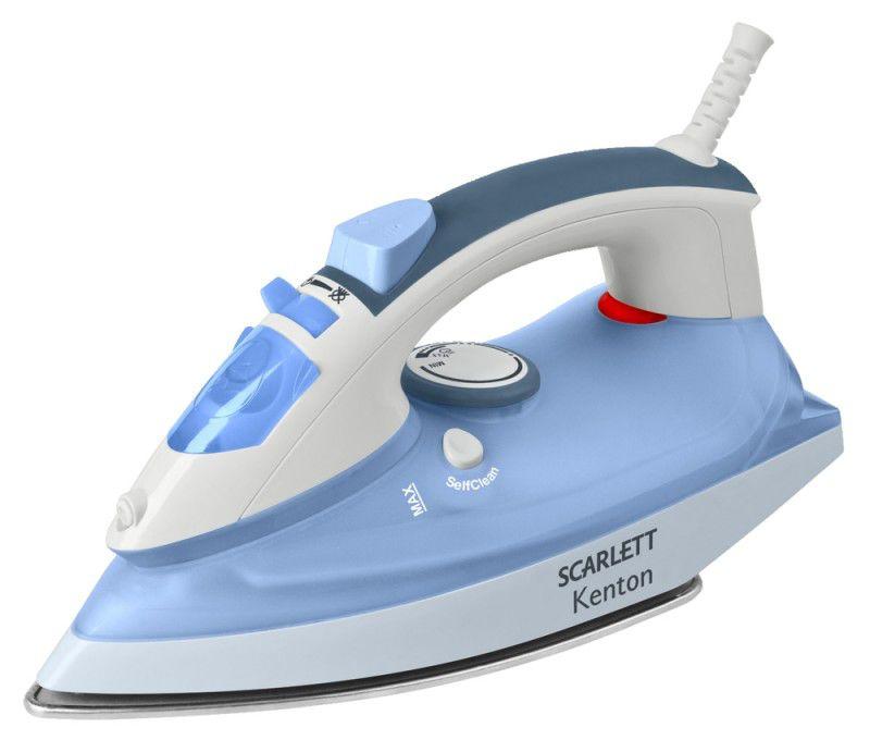 Утюг SCARLETT SC-1137S,  1800Вт,  голубой