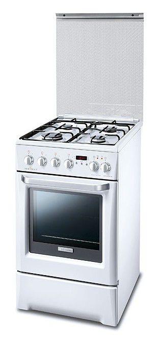 Газовая плита ELECTROLUX EKK513504W,  электрическая духовка,  белый