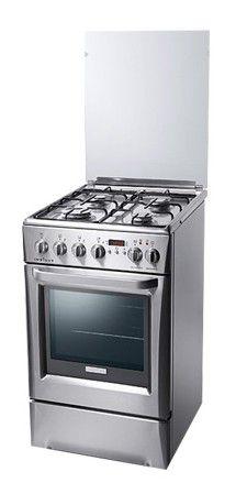 Газовая плита ELECTROLUX EKK513504X,  электрическая духовка,  серебристый