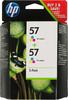 Двойная упаковка картриджей HP №57 многоцветный [c9503ae] вид 1