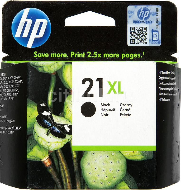 Картридж HP 21XL черный [c9351ce]