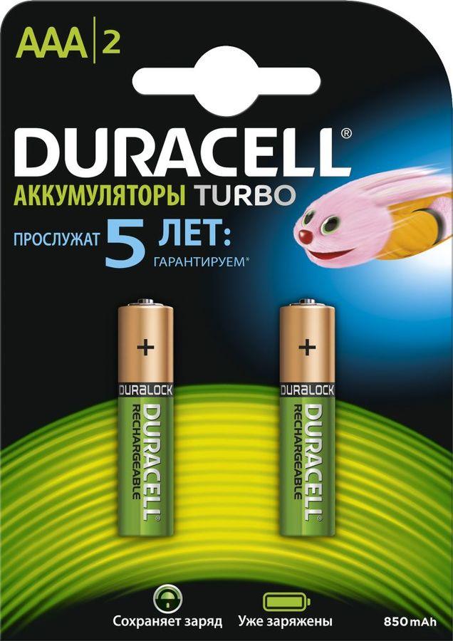 Аккумулятор DURACELL HR03-2BL,  2 шт. AAA,  850мAч