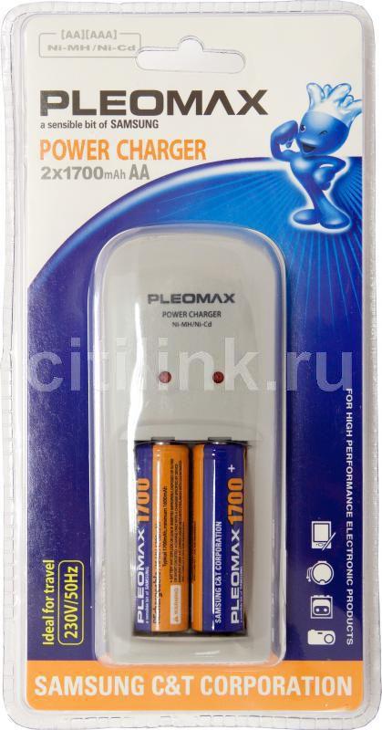 Аккумулятор + зарядное устройство SAMSUNG Pleomax 1018,  2 шт. AA,  1700мAч