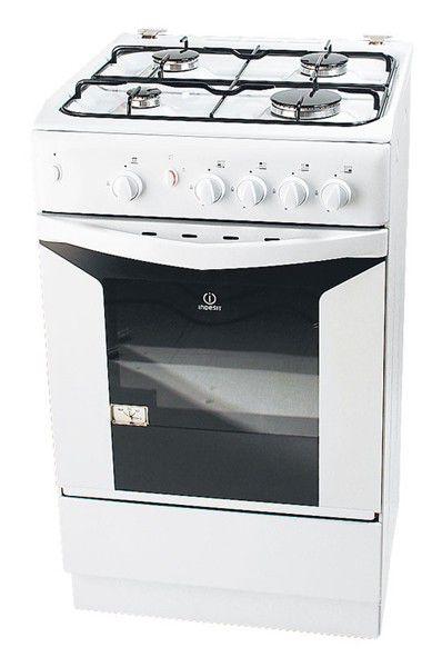 Газовая плита INDESIT K1G2 W/R,  газовая духовка,  белый