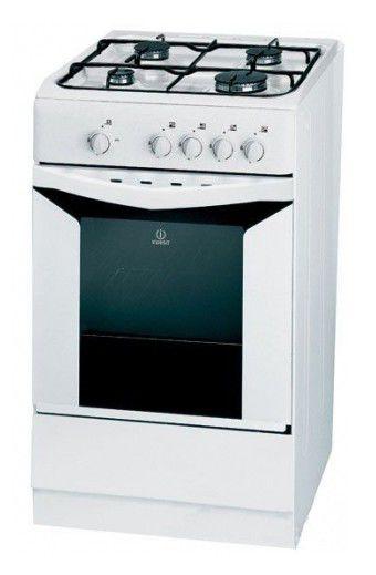 Газовая плита INDESIT KJ1G21 W/R,  газовая духовка,  белый