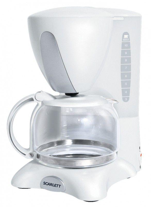Кофеварка SCARLETT SC031,  капельная,  белый