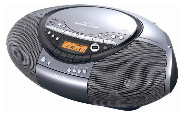 Аудиомагнитола SONY CFD-RS60CP,  серый и серебристый