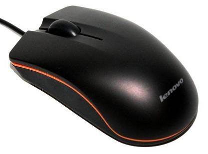 Мышь LENOVO M20A оптическая проводная USB, черный [25 008 894]