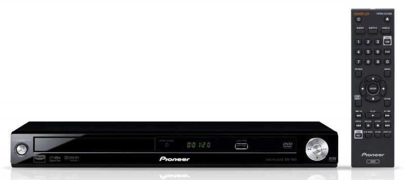DVD-плеер PIONEER DV-120K-KD,  черный,  диск 500 песен
