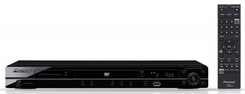 DVD-плеер PIONEER DV-420V-K,  черный