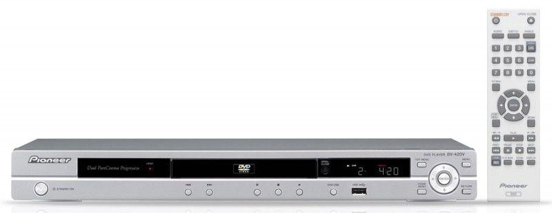 DVD-плеер PIONEER DV-420V-S,  серебристый