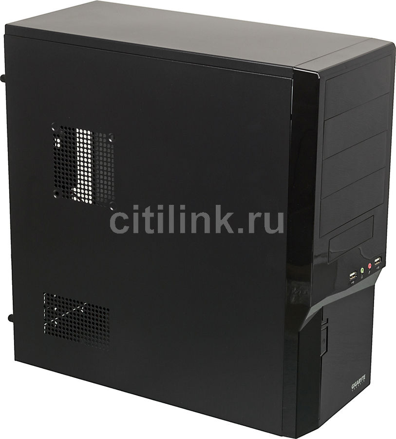 Корпус ATX GIGABYTE GZ-P5 Plus, Midi-Tower, без БП,  черный