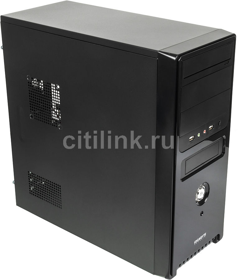 Корпус ATX GIGABYTE GZ-F2, Midi-Tower, без БП, черный