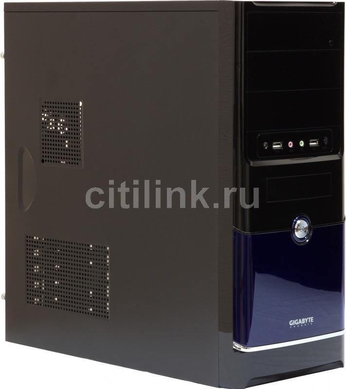Корпус ATX GIGABYTE GZ-F3, Midi-Tower, без БП, черный и синий