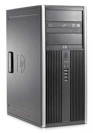 HP Elite 8000,  Intel  Core2 Quad  Q9500,  DDR3 2Гб, 320Гб,  Intel GMA 4500,  DVD-RW,  Windows 7 Professional,  черный [wb672ea]