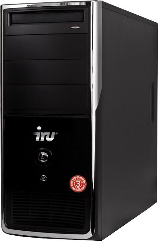 IRU Home 310,  Intel  Pentium Dual-Core  E5400,  DDR2 2Гб, 500Гб,  nVIDIA GeForce GTS 250 - 512 Мб,  DVD-RW,  noOS,  черный и серебристый