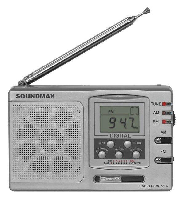 Радиоприемник SOUNDMAX SM-2600,  серебристый