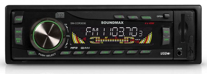 Автомагнитола SOUNDMAX SM-CCR3036,  USB,  SD/MMC
