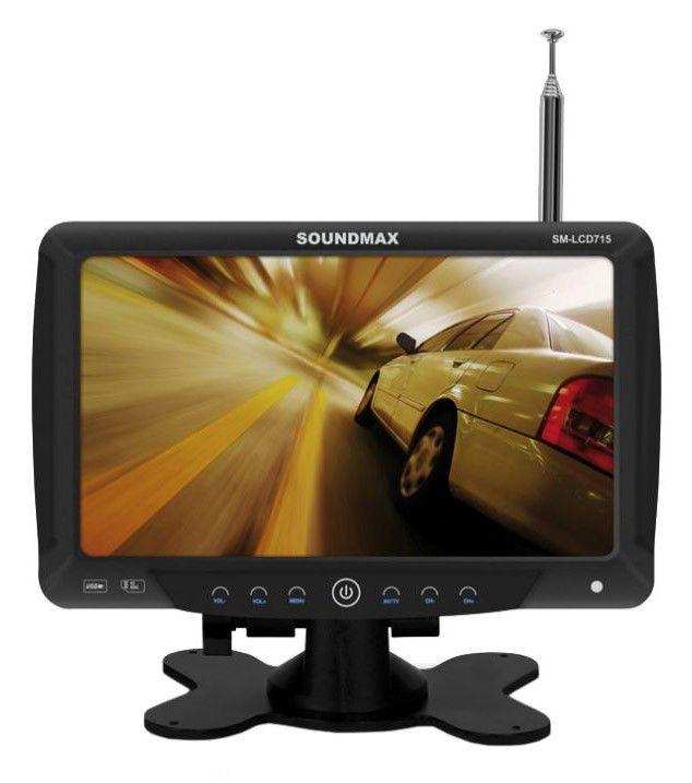 Автомобильный портативный телевизор SOUNDMAX SM-LCD715,  7