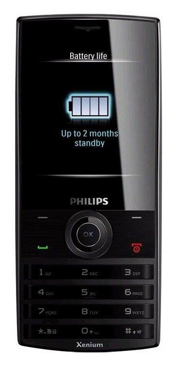 Мобильный телефон PHILIPS X501  черный