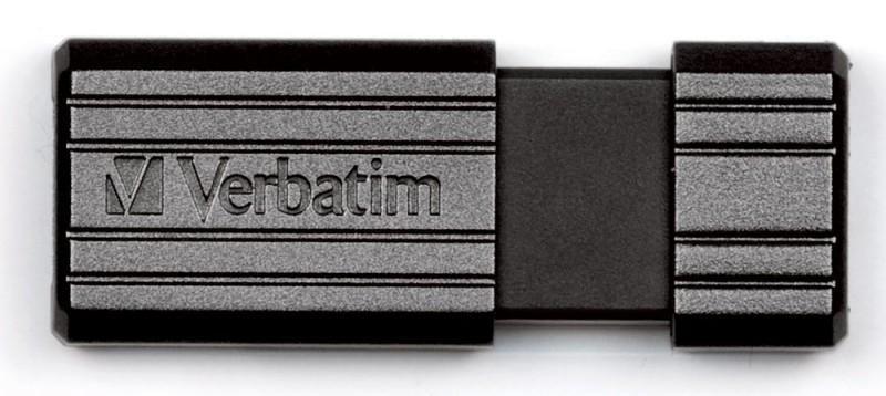 Флешка USB VERBATIM PinStripe 32Гб, USB2.0, черный [49064]