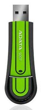 Флешка USB A-DATA Superior S007 16Гб, USB2.0, зеленый [as007-16gb-rgn]