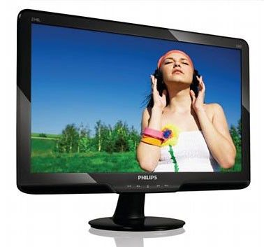 "Монитор ЖК PHILIPS 234EL2SB/00 23"", черный"