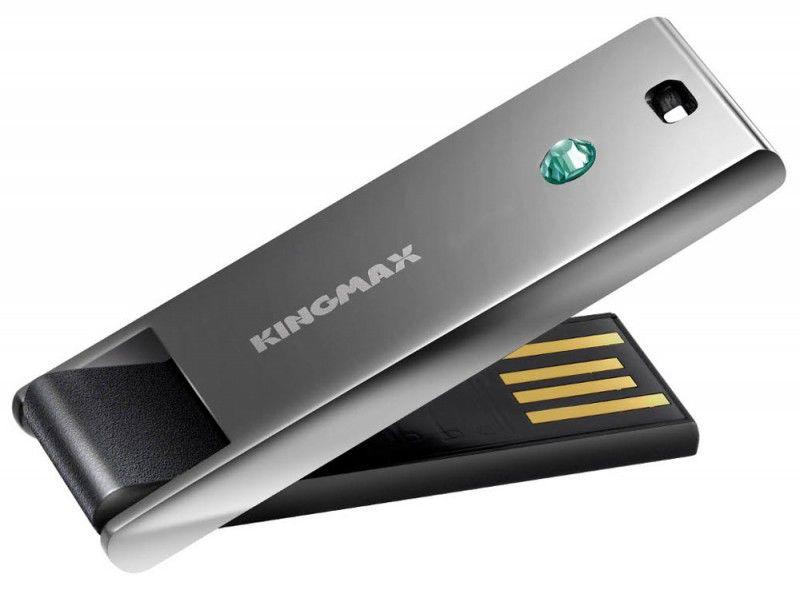 Флешка USB KINGMAX Classic Super stick 16Гб, USB2.0, серый [star]