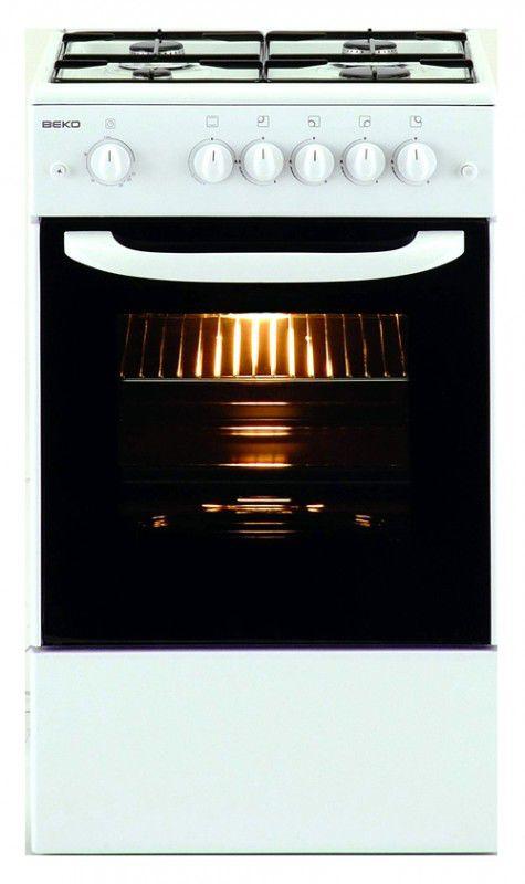 Газовая плита BEKO CG41111 G,  газовая духовка,  белый [cg 41111 g]