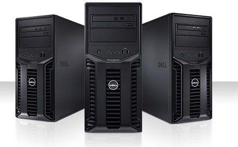 Сервер Dell PE T110 i3 540 3.06/2G(2x1G 1R UDIMM 1.3K)/SATA 3.5 2x500Gb 7.2K/RW/iD6Em/S100/3YNBD