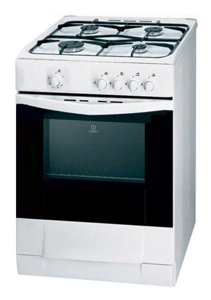 Газовая плита INDESIT KJ1G2 W/R,  газовая духовка,  белый