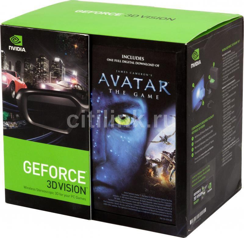 Очки 3D NVIDIA Vision AVATAR SPEC. ED. KIT with RECEIVER [942-10701-0007-100]