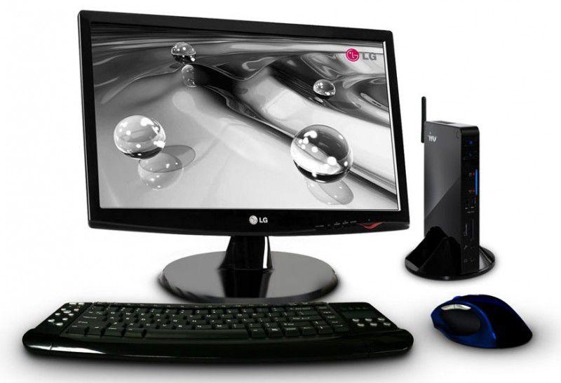 Неттоп  IRU 112 + монитор LG W1943SS-PF (комплект),  Intel  Atom  330,  DDR2 1Гб, 160Гб,  nVIDIA GeForce 9400,  CR,  noOS,  черный