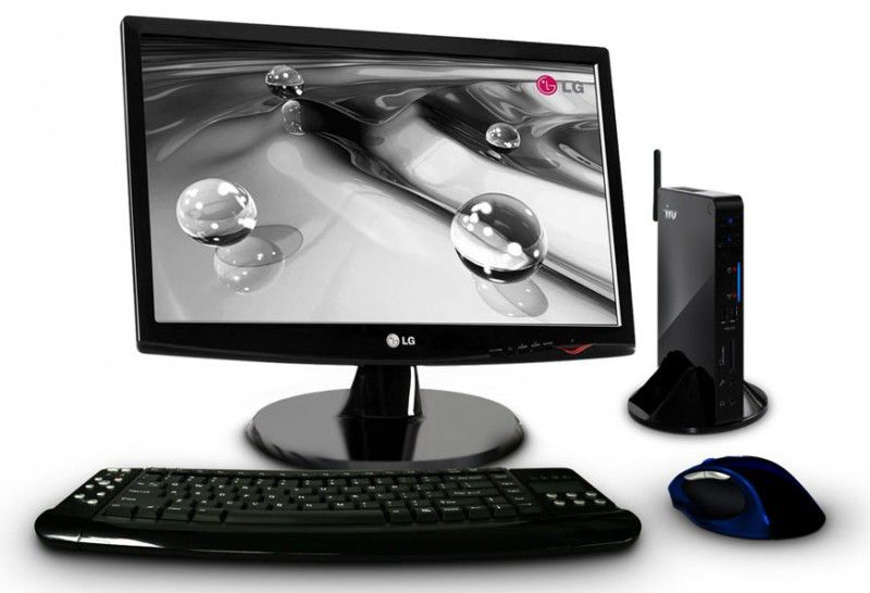 Неттоп  IRU 112 + монитор LG W1943SS-PF (комплект),  Intel  Atom  330,  DDR2 2Гб, 320Гб,  nVIDIA GeForce 9400,  CR,  noOS,  черный